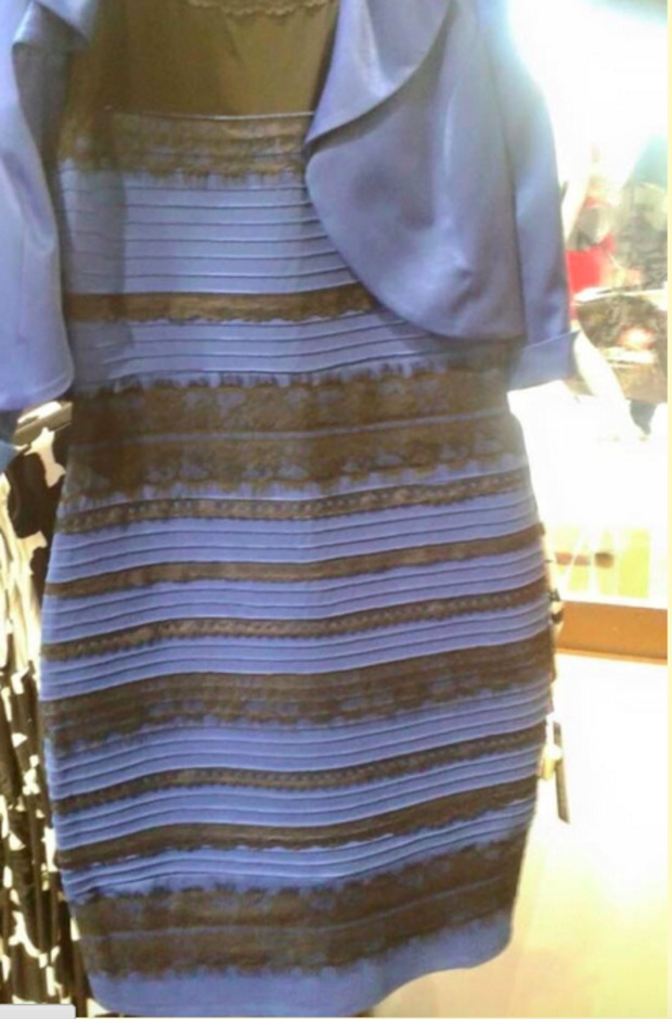 Today's dialectic: Is that dress white or is it blue?