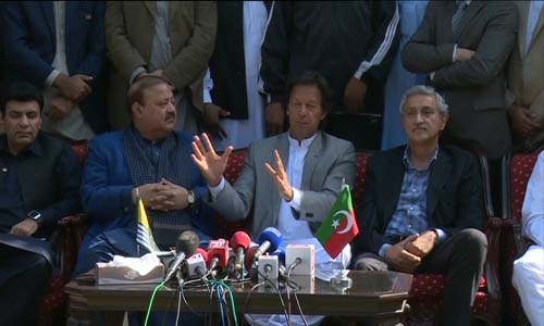 AJK former prime minister Barrister Sultan, 50 other politicians join PTI
