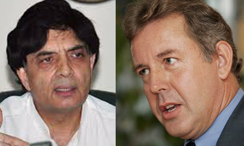 Nisar meets Kim Darroch, asks UK to serve as bridge in fight against extremism