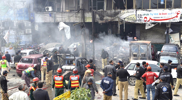 Five killed, 27 injured in Lahore suicide attack
