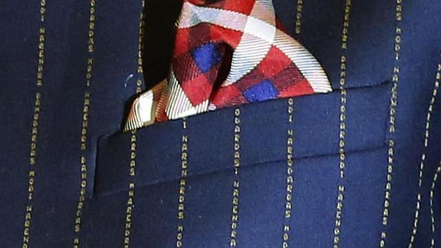 Modi's pinstriped suit auctioned for 4.31 crore