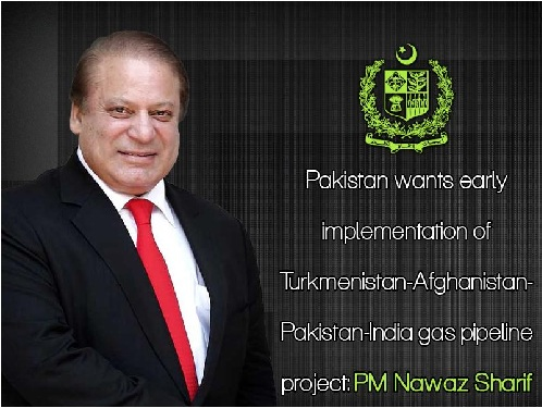 Pakistan wants early implementation of TAPI project: PM