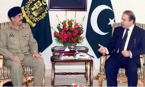 PM, COAS discuss Zarb-e-Azb & National Action Plan