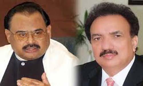 MQM chief phones Rehman Malik, pays tributes to Army, FC & police jawans