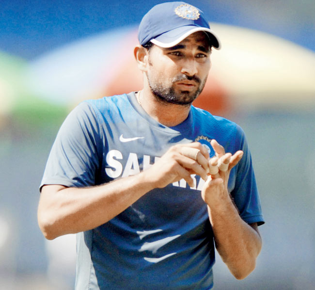 India's paceman Shami out of UAE match with knee strain