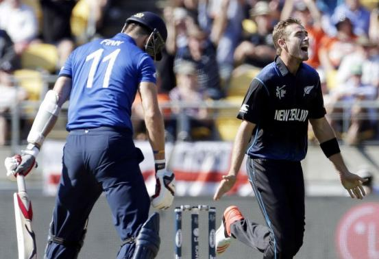 Southee, McCullum inflict eight-wicket defeat on England in World Cup