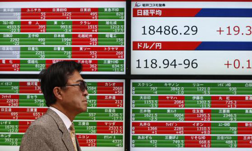 Asian shares rise after Yellen stresses policy flexibility