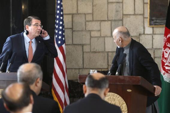US weighs slowing Afghan withdrawal to ensure 'progress sticks': Carter