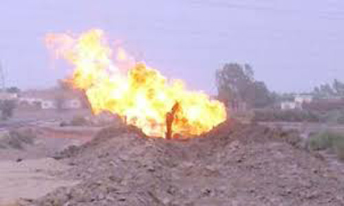 Supply disrupted as two gas pipelines blown up in Naseerabad