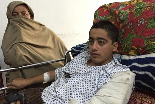 Injured APS student Ahmad Nawaz leaves for London