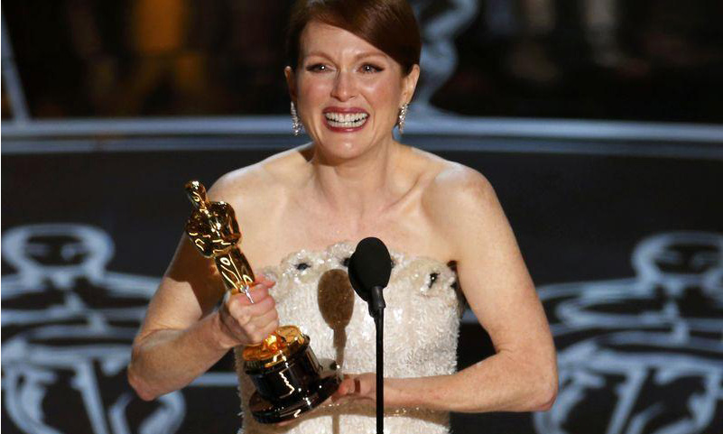 Julianne Moore takes best actress Oscar for 'Still Alice'