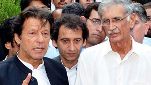 CM Khattak, Imran Khan barred from visiting Hayatabad blast site
