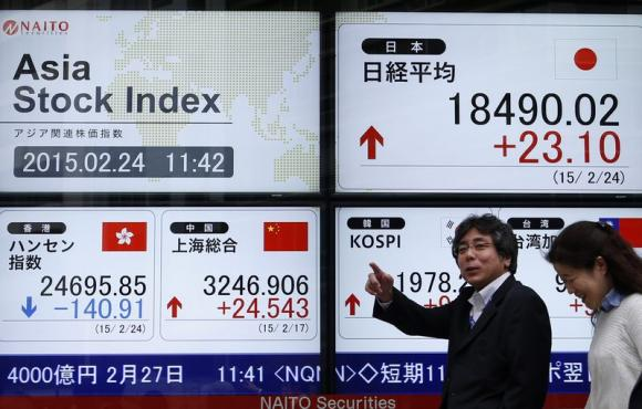 Oil's drop chills Asian stocks, inflation data boosts dollar