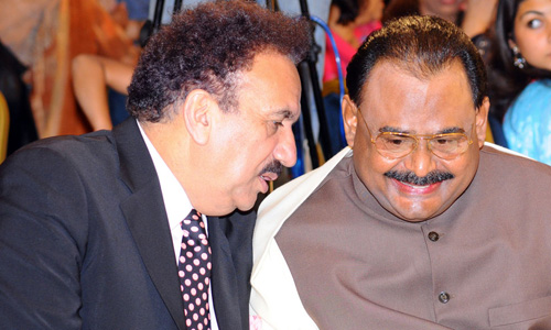 Rehman Malik, Altaf Hussain agree to stop horse-trading in Senate election