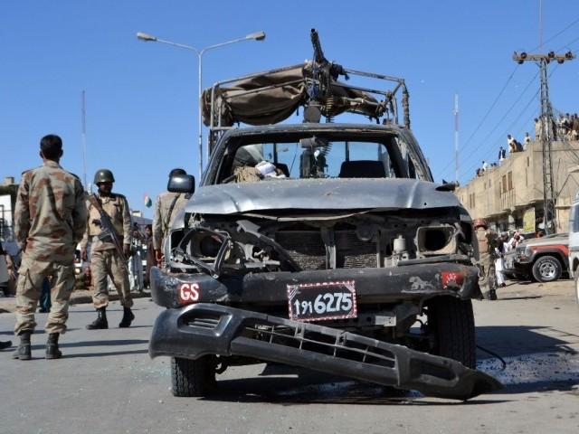 FC official killed, 3 injured in Balochistan blasts