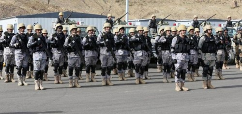 In this photo provided by the Saudi Press Agency (SPA), Royal Saudi Land Forces and units of Special Forces of the Pakistani army take part in a joint military exercise called