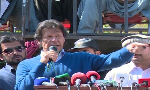 Imran says KPK protesters' demands have been conveyed to Pervez Khattak