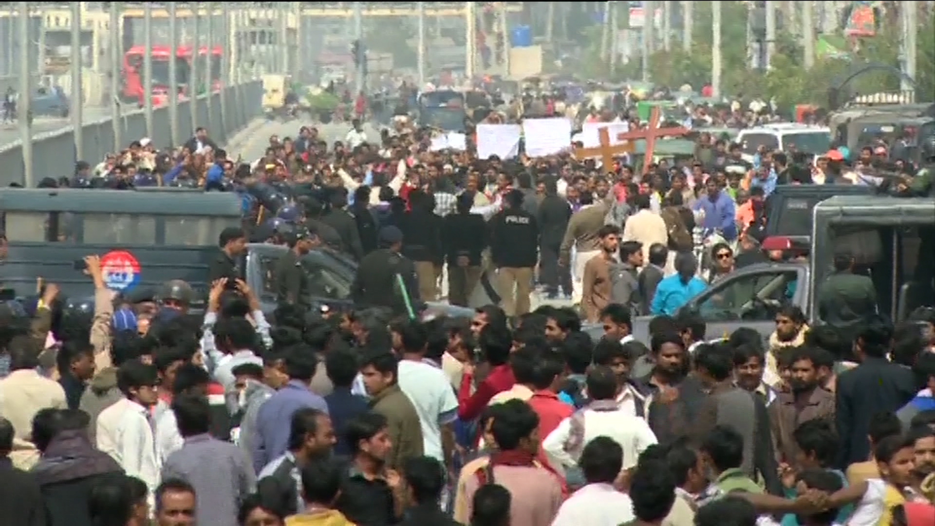 Protests against Lahore blasts in different cities; Day of mourning being observed
