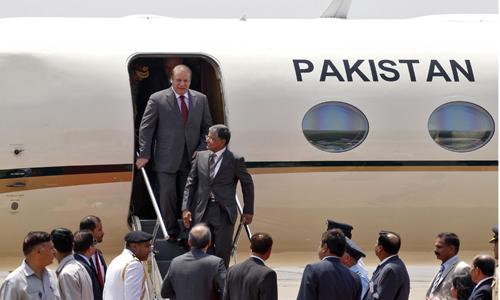Prime Minister Nawaz Sharif reaches Karachi