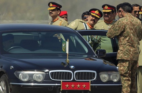 Pakistani Army Chief of Staff General Raheel Sharif leaves after attending the Pakistan Day parade in Islamabad March 23, 2015. Pakistan held its first Republic Day parade in seven years on Monday. REUTERS
