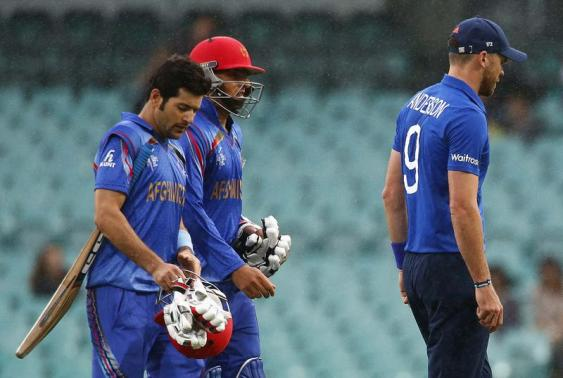 Afghanistan at 111-7 against England as rain delays match
