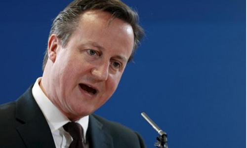British Prime Minister Cameron to face rivals in TV debate