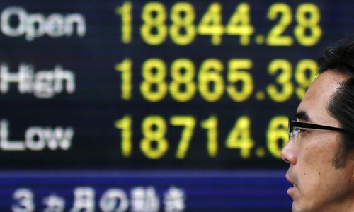 Asian shares lifted by Wall Street records; RBA stands pat