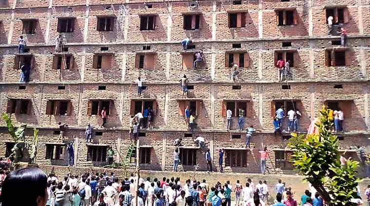 Paper planes, parents help Indian pupils outsmart state exams