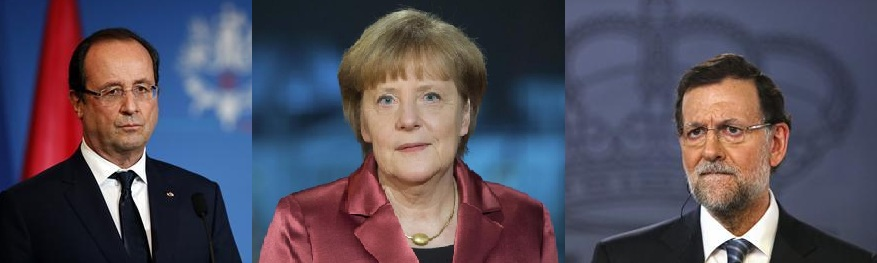 Hollande, Merkel, Rajoy arrive in Alps for crash tribute