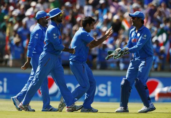 India score four-wicket win against West Indies, book quarter-final place in World Cup