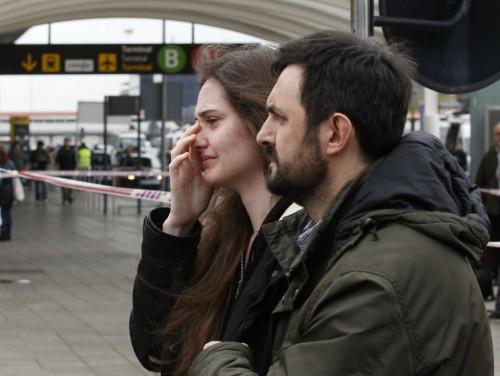 Family members of passengers feared killed in Germanwings plane crash arrive at Barcelona's El Prat airport March 24, 2015. REUTERS