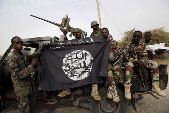 Graffiti, flags are only remains of Boko Haram in Nigerian town