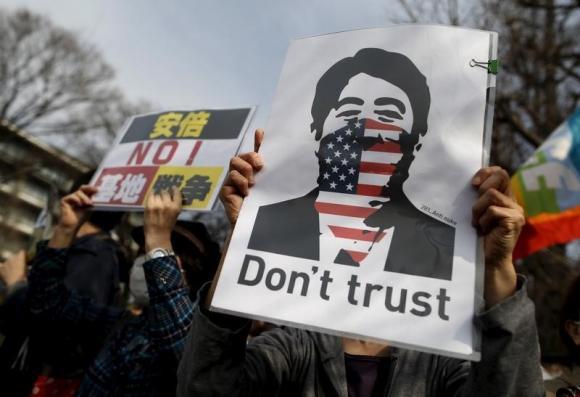 Japanese row over US island base move deepens