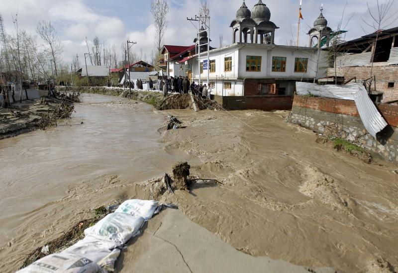 Heavy rains trigger flood fears in Indian-held Kashmir; six dead