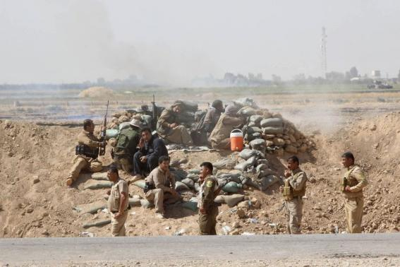 Kurdish forces attack Islamic State west of Kirkuk