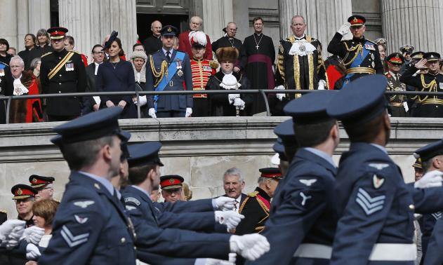 Led by the Queen, Britain commemorates end of Afghan war