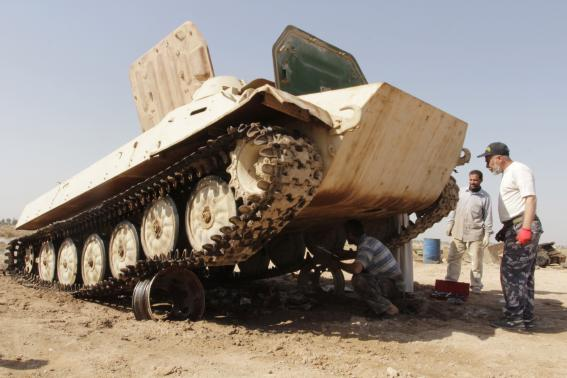 Iraq's newest conflict rescues rusting tanks from scrapheap