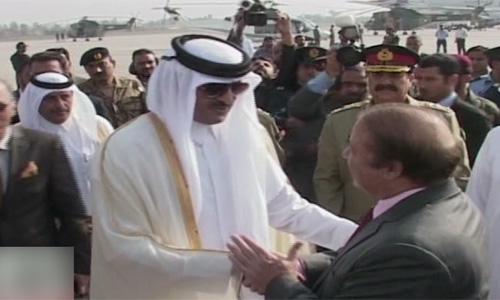 Emir of Qatar leaves after Pakistan tour