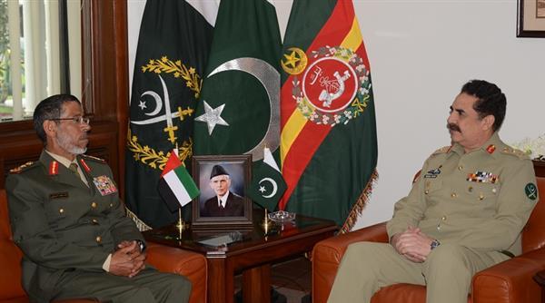 UAE Armed Forces chief calls on COAS General Raheel Sharif, CJCSC Chairman General Rashad Mahmood