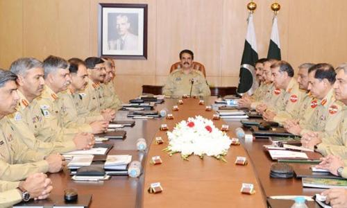 COAS Raheel Sharif presides over Corps Commanders' Conference