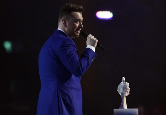 Brit awards shake up British album chart, boost Sam Smith