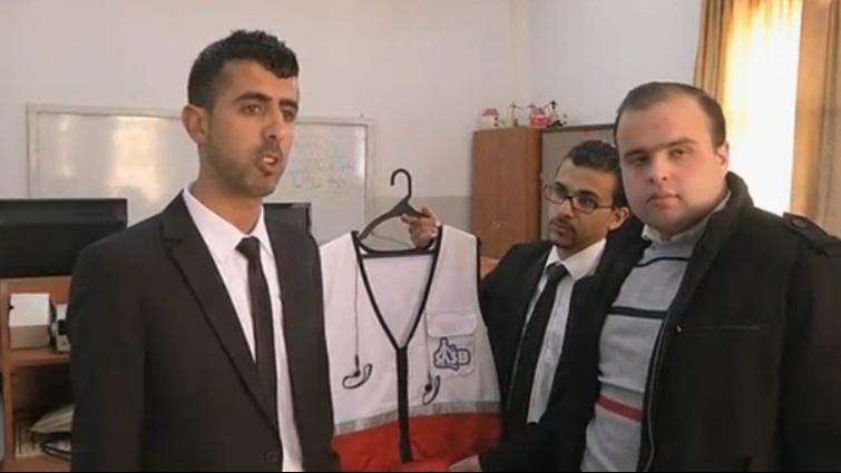 Palestinian students design vest to help the blind navigate
