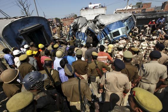 Train accident kills at least 30, leaves 50 injured in Uttar Pradesh