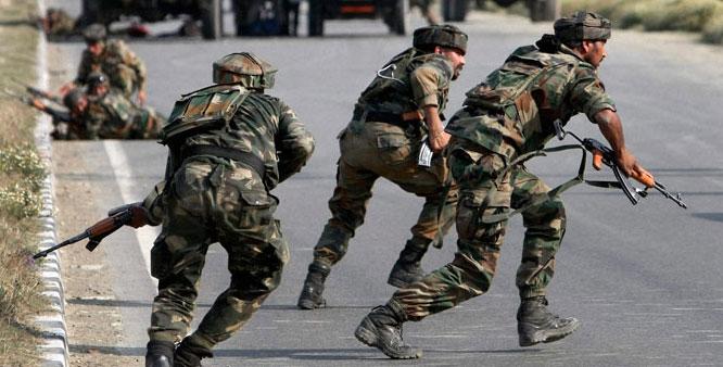 Gun battle as militants attack IHK army camp