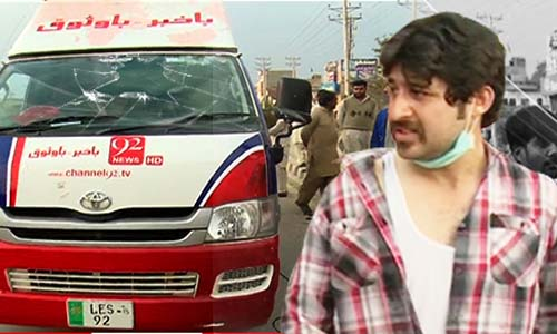 Youhanabad suicide attacks: 92 News cameraman injured as protesters turn violent