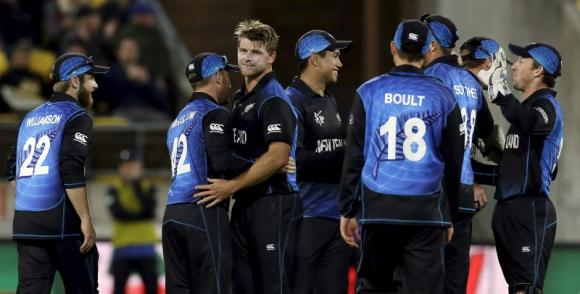 New Zealand to chase 298 in 43 overs in first semi final against South Africa