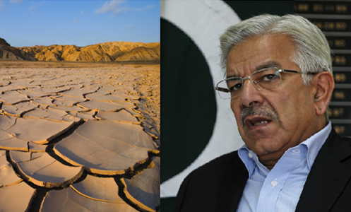 Khawaja Asif forecasts countrywide drought in coming years