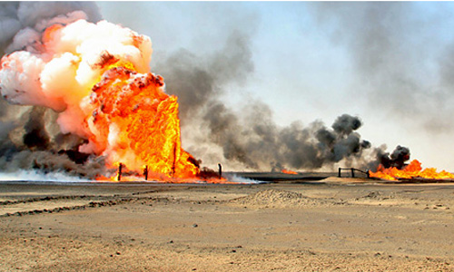 Islamic State torches oil field east of Tikrit