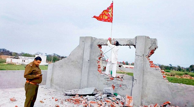 Extremist Hindus attack, raze church in India; replace cross with idol
