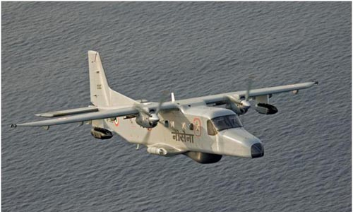 Two pilots go missing as Indian navy plane crashes off Goa